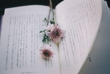 aesthetic: books and flowers