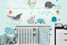Sea Nursery Room / under the sea decorations - ocean themed nursery room - baby bedding - baby furniture - baby room ideas - baby nursery ideas - baby cribs - nursery furniture sets - nursery ideas - baby room decor - baby room themes -