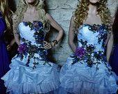 Вышивка цветами на платьях