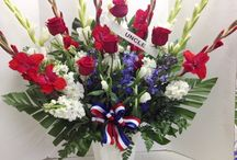 Patriotic Flowers / Red White and Blue. Patriotic flowers (and gift baskets) that Guarantee a WOW!