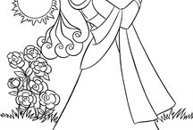 coloring pages 7 (sleeping beauty)