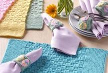 Knitting placemat