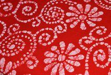 wax batik tartan red