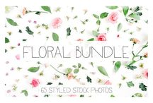 Best Floral Designs on Creative Market / You are looking for graphic design resources? Here you can find my favorite Floral Design packs I found on Creative Market. I love pining florals!