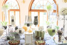 Candy/Sweets Stations / www.SimplisticCharmLinenRental.com