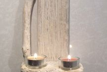 Driftwood sconce. Candle holder