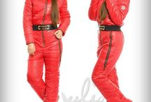Women's down ski suits