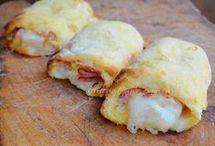 cannoli di patate ripieni di prosciutto  e mozzarella