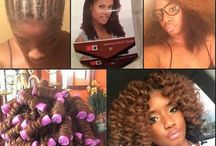 Crochet  Braids with curly coils / Marley Hair