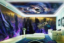 Décoration murale Papier peint science-fiction