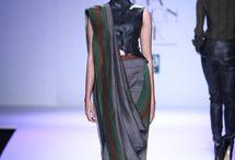 Tying a sari