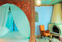 Interior Design / Influence of colors, textures & oriental touch...