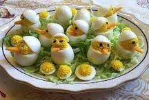 Paas eitjes / Eten en drinken
