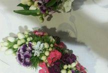 tocados de flores de huertana / tocados de flores de huertana para el pelo. peinado tradicional murciano