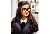 Hair style with glasses
