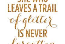 Glitter quotes