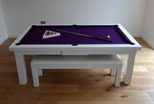 Our Colour E8 (White) - Luxury Pool Tables / A selection of our tables finished in our colour code E8 (White). www.Luxury-Pool-Tables.co.uk
