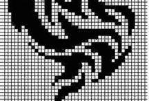 вышивка бисером-крестом / схемы
