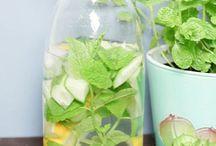 Zitrone-Minz-Gurken-Wasser