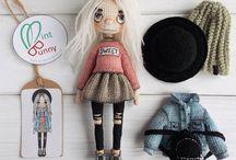 каркасные куклы крючком