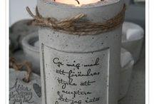 свечи декор
