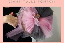 DIY Tasteful Hen Party Decorations- [How To Make Giant Pom Poms]