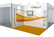 ISOframe Fabric stands / 15 times quicker and easier than traditional tension fabric display systems. No screws!