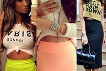 Tight skirt & Crop top COMBO / Don't let this trend just pass you by. Wear it – Work it – BE IT! Crop tops are the latest phenomenon into fashion, and you can combine them with any piece your closet offers. From pants and shorts, to long and short skirts! Get into it! It's FUN!
