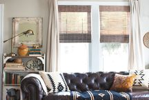 Eclectic Decor / I love mixing patterns, colors and eras!