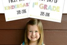 First Day of School / Ideas for documenting that all important day for your little one.