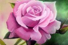 dipingere rose