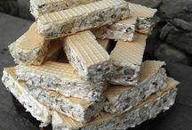 Cukrovinky  řezy  dorty  rolády