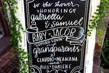Signage / Get ideas for chalkboards and signs to help the flow of an event.
