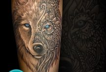 wolven tatoo