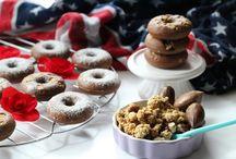 www.pinterest.com/gerbusca/httplericettedimammagycom20150616mini-donuts-al-ca/ / donuts al cacao co  sciroppo d'acero e muesli con