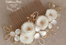 Rose Gold Accessory Collection for Timeless Bridal Couture by Kathleen Barry / Magnificent, hand made and luxurious rose gold accessories to complete your gorgeous bridal look. Made by Kathleen Barry, available at Timeless Bridal Couture