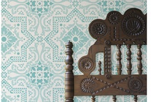 Deck the walls - wallpaper and stencils