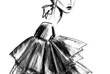 Fashion illustrations by Lara Wolf
