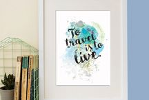 Travel Lover Gifts / Travel quotes and travel gifts for all of you travel lovers. Enough to inspire wanderlust!