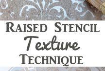 Plaster Raised stencil texture