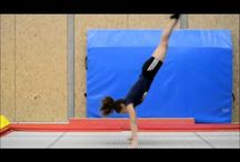 Gymnastic tramp and tumble trak drills