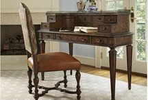 All Work & All Play. Cool Ways To Organize Your Home Office Space. / goodshomefurnishings.com High functioning and beautiful home office solutions for the way you work every day. Desks by Hooker Furniture, Sligh, Lexington and Fine Furniture Design. https://www.goodshomefurnishings.com/homeofficefurniture/