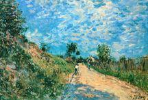 Alfred Sisley / Cuadros del artista impresionista francés Alfred Sisley