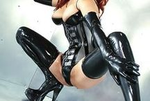latex, PVC & leather  girls