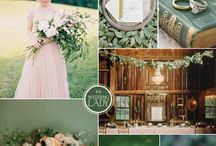 Emerald Green Blush and Dusty Rose