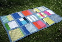 Blanket - BLUE I / SIZE: 131X209cm MATERIAL- wool, cotton, viscose MADE- handmade
