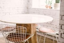 dining table white grid chair