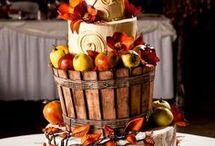 Podzimní svatební dorty