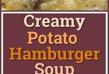 potato and hamburger soup