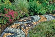 Garden Pathways / In my book, Digging Deep, I talk about the elements of good garden design- garden pathways are one of them